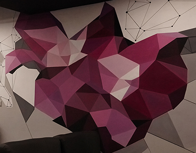 Wall painting. Embery lounge bar