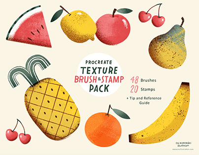 Procreate Texture and Pattern Brushes & Stamps