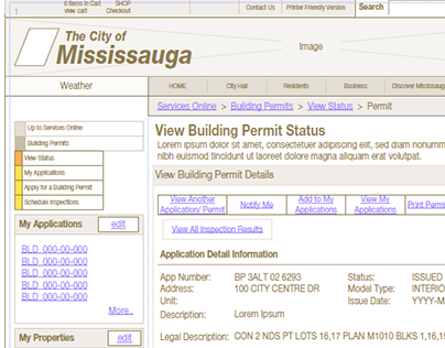 2004 - City of Mississauga - ePortal