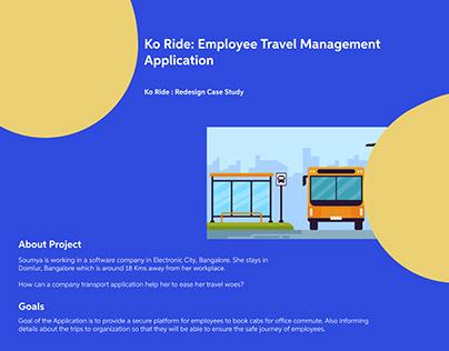 Ko Ride: Employee Transport Management Application
