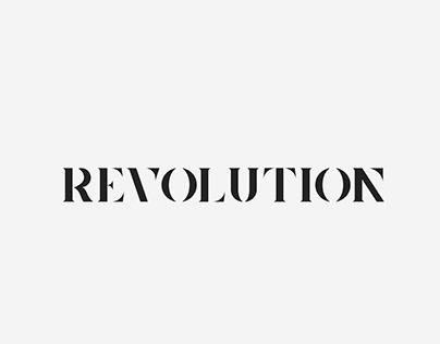 REVOLUTION - typography logo