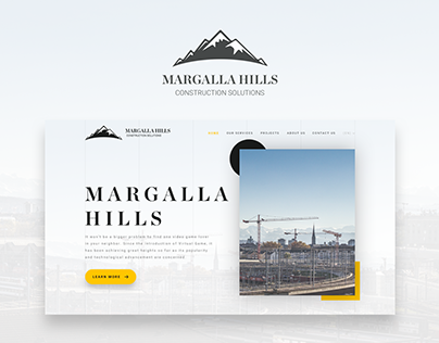 Construction Company Website UI/UX Design