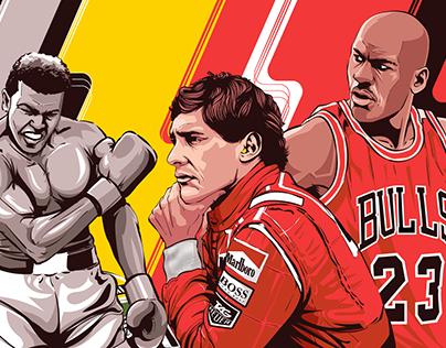 Poster Design - Illustrated Athletes