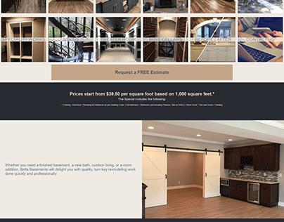 Website Project for Bella Basements