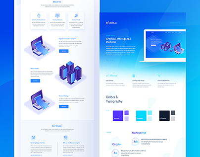 Artificial Intelligence- Landing Page Design Concept