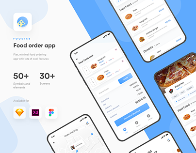 Foodiee | Food ordering App UI kit