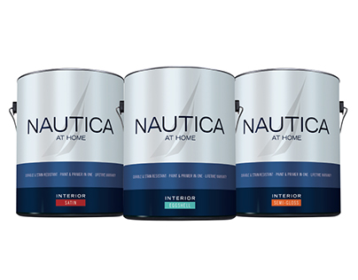 Nautica At Home Paint Packaging and Trade Show Booth