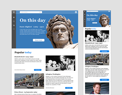 Wikipedia concept of web site. With mobile version