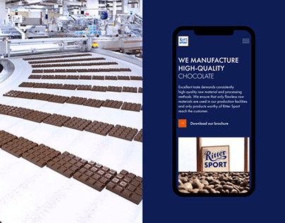 Ritter Sport corporate website redesign