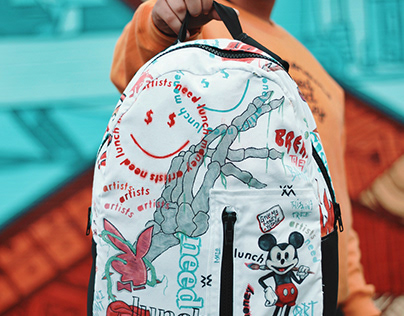 Artists Need Lunch Money Backpack Collab