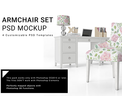 NEW FOR CREATIVE MARKET 12 ARMCHAIR SET