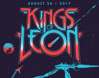 Kings of Leon VIP poster - The Gorge 2017