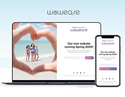 UX/UI Design - Wowease Swimsuit Website