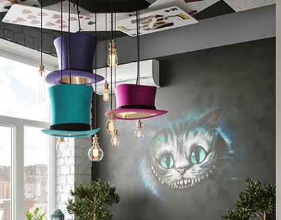 Office Room Alice in Wonderland