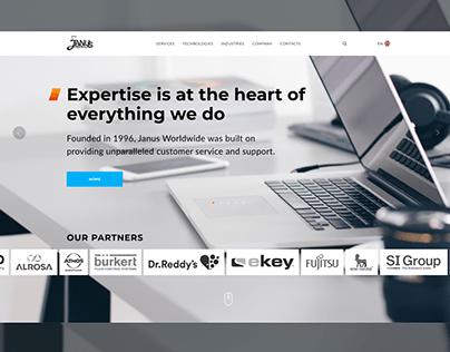 Corporate website design for Janus LLC