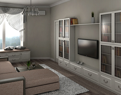 Visualization of a living room