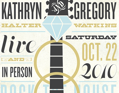 House of Blues Wedding Poster