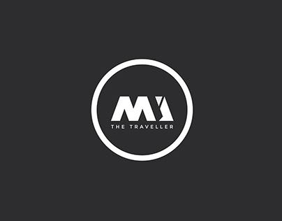 MJ The Traveller Branding logo design