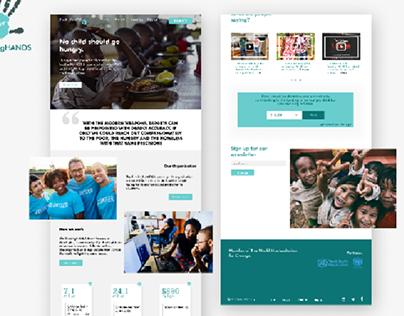 Website landing UI for Non profit