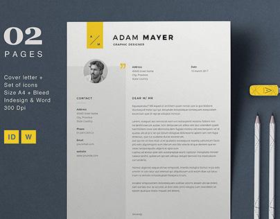 Resume Template Adam