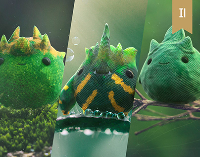 Happy Nature 2 Octane render cute 3D Oscar Creativo