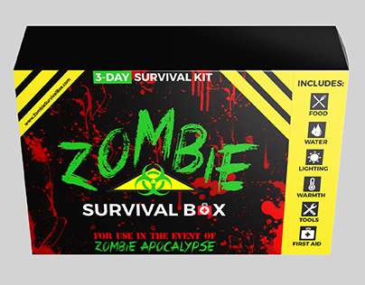 Zombie Survival Box - Packaging Design