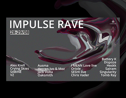 Event promo/poster design/impulse rave