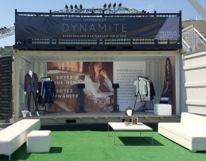 FESTIVAL BOOTH for Dynamite Clothing