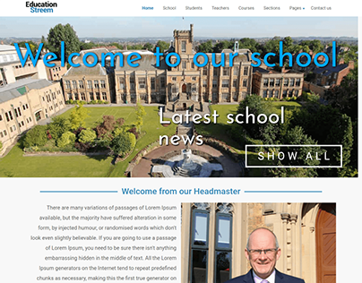 Education Website template - EducationStreem