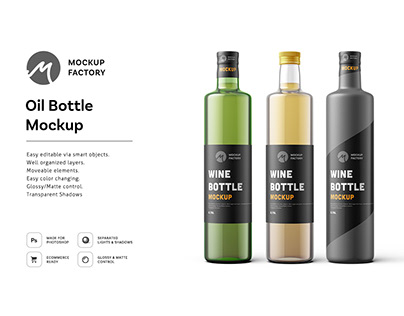 Oil Bottle Mockup