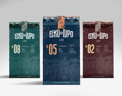 ECKO & LUPO Coffee Roasters (branding, packaging)