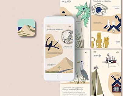 Kuršių nerijos nacion. parko mob. aplikacijos dizainas