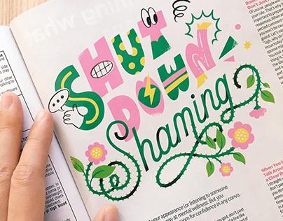 Lettering for Women's Health Magazine