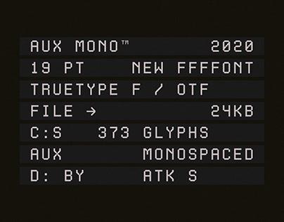 Aux Mono Typeface