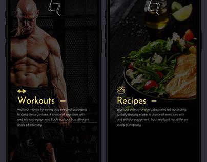Health Restoring Mobile App Design Concept
