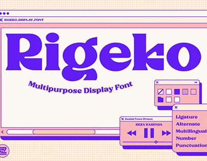 Rigeko Multipurpose Font