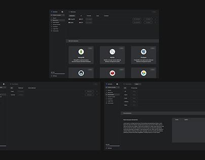 Website Dashboard Interface