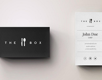 Chef Minimal Logo and Business Card Template