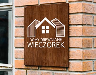 """Projekt logo dla firmy """"Domy Drewniane Wieczorek"""""""