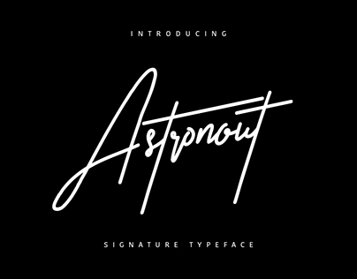 Astronout Signature Font