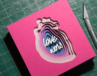 Love wins   Paper art