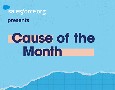 Salesforce.org Cause of the Month Social Series