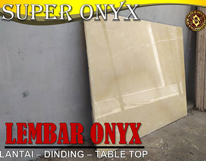 Supplier Lantai Marmer Pontianak| SUPER ONYX