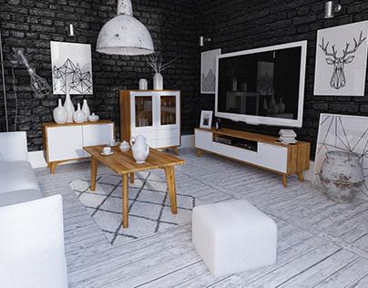 Salon / Living Room - Bianco Collection