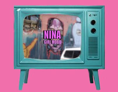 NINA/ GIRL MOBB Mural Wrap Up Time-lapse