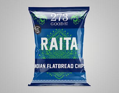 Indian flatbread packaging design.