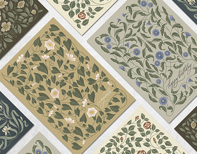Floral notes | Greeting card collection