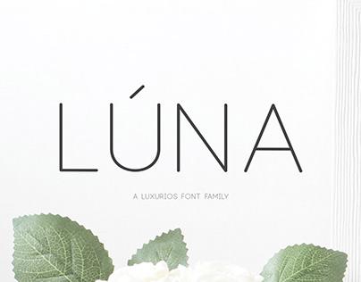Lúna – A Luxurios Font Family