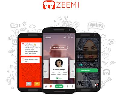 Zeemi Android App UI Concept