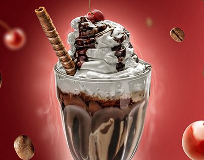 Ice Cream Photography / Retouching / Menu Design